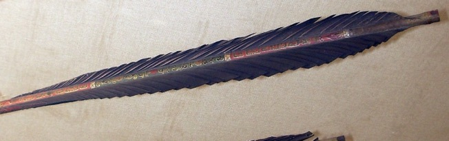 The tail of an imperial Manchu arrow