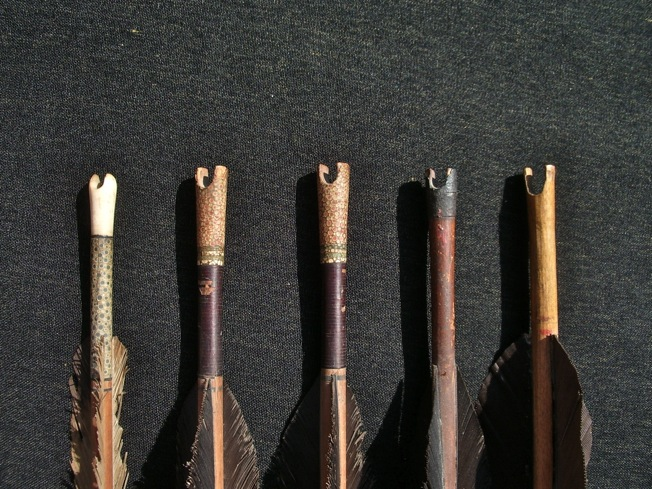 Various Manchu arrow nocks